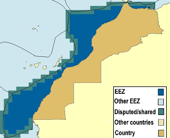 نتيجة بحث الصور عن المغرب يرسم حدود البحر