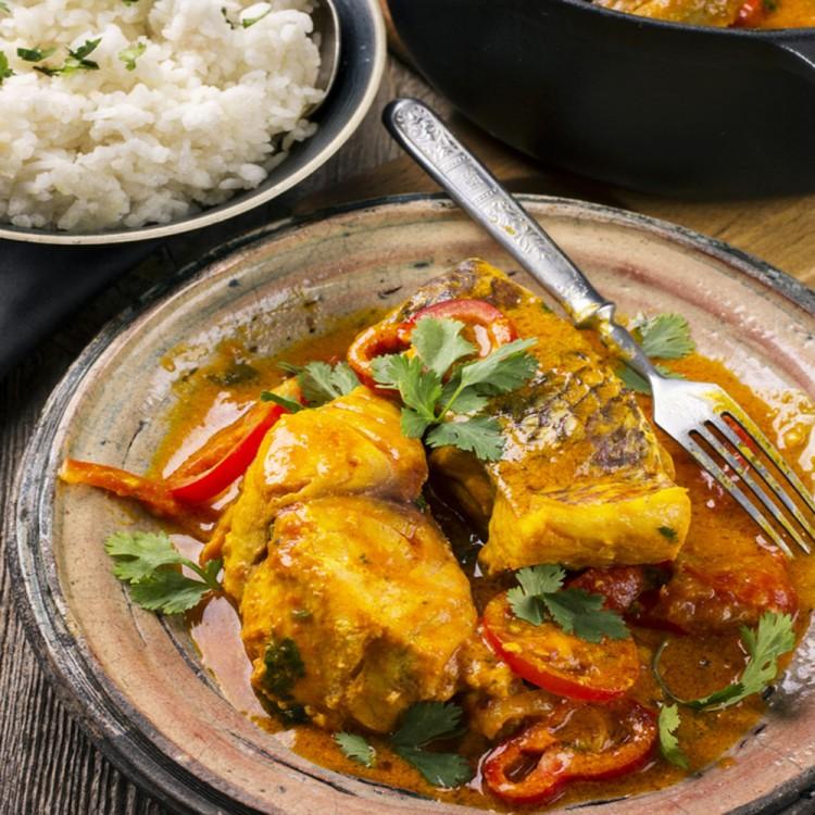 السمك الحار بصلصة جوز الهند على الطريقة التايلندية - Maroc ...